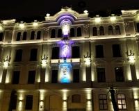 Phasade lighting in Ausekla street 4