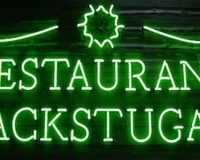 Вывеска Restaurang Backstugan