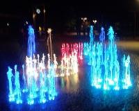 Dinamiskās gaismas strūklakas izgaismojums Dzintaros